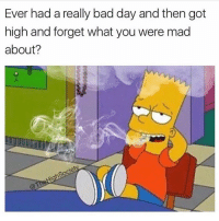 Bad, Bad Day, and Weed: Ever had a really bad day and then got  high and forget what you were mad  about? All the time! @toptree