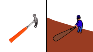 Ever notice how a hammer looks like a man about to swing a baseball bat? https://t.co/WhKLUaKhFE: Ever notice how a hammer looks like a man about to swing a baseball bat? https://t.co/WhKLUaKhFE