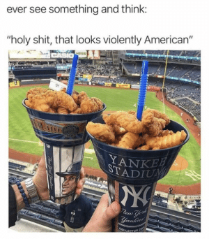 """Dank, Memes, and Shit: ever see something and think:  """"holy shit, that looks violently American""""  HESS  YANKE Violently American by infyty MORE MEMES"""