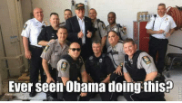 Sure didn't! Do you support President Trump & local LEOs? -- 50% OFF on 2nd Amendment Apparel from Cold Dead Hands! WWW.CDH2A.COM/APPAREL: Ever seen Obama doing thisp Sure didn't! Do you support President Trump & local LEOs? -- 50% OFF on 2nd Amendment Apparel from Cold Dead Hands! WWW.CDH2A.COM/APPAREL