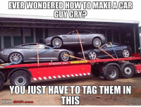 Jealous, Memes, and Boost: EVERWONDERED HOW TO MAKEA CAR  GUY CRED  RANS  on Da  YOU UST HAVE TO TAG THEMIN  THIS  Team So sad seeing supercars being mistreated! Also quick mention to @nissan_420sx. He just reached 10K followers and if you don't follow him already, go and give him a follow. (Rather jealous) 😂 AstonMartin Sad whodidthis idontknowwhoyouarebutiwillfindyou carmeme carmemes modified carporn carenthusiast carphotography carthrottle carfection exotic roadcar racecar torturedtires inspiration iconic perfection petrolhead streetcar DriveTastefully justcarguythings killalltires loveofcars boost v8 motoring maaad