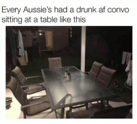 Got a table like that out the back right now: Every Aussie's had a drunk af convo  sitting at a table like this Got a table like that out the back right now