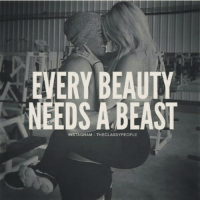 Beautiful, Gym, and Instagram: EVERY BEAUTY  NEEDS A BEAST  INSTAGRAM THECLASSYPEOPLE Swolemates. . Instagram: @gymmemesofficial 👈