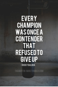 https://t.co/0T5h4hSpeB: EVERY  CHAMPION  WASONCE A  CONTENDER  THAT  REFUSED TO  GIVE UP  ROCKY BALBOA  THEMUFFIN MANTUMBLR.COM https://t.co/0T5h4hSpeB