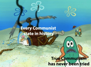 True, Definition, and History: Every Communist  tate in history  True Commun  has never been tried the definition of insanity