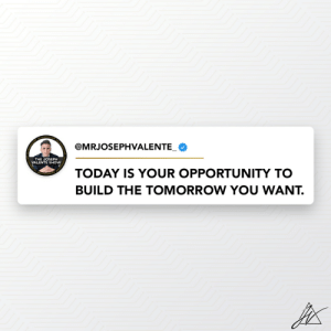 Every day you should be waking up and taking steps towards success.   Today is your chance to build a better tomorrow for you, for your family and for your friends. https://t.co/EJKY9XjS3j: Every day you should be waking up and taking steps towards success.   Today is your chance to build a better tomorrow for you, for your family and for your friends. https://t.co/EJKY9XjS3j