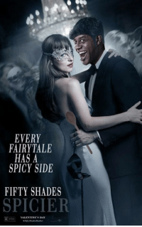 Memes, 🤖, and Fairytale: EVERY  FAIRYTALE  HAS A  SPICY SIDE  FIFTY SHADES  SPICIER  VALENTINE'S  DAY 50 Shades of Rub