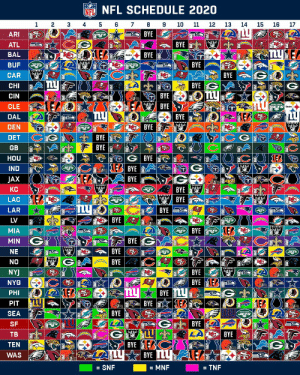 Every game. For every NFL team. All in one place.  The 2020 NFL Schedule! https://t.co/PT5yBRxoTz: Every game. For every NFL team. All in one place.  The 2020 NFL Schedule! https://t.co/PT5yBRxoTz