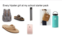 Every hipster girl at my school starter pack