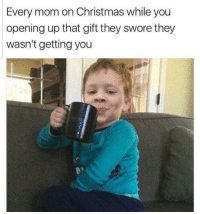 Christmas, She Knows, and Mom: Every mom on Christmas while you  opening up that gift they swore they  wasn't getting you She knows shes about to make a memory via /r/wholesomememes https://ift.tt/2QSQL76