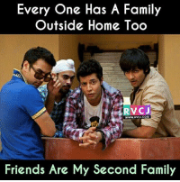Memes, 🤖, and Outsiders: Every One Has A Family  Outside Home Too  RV CJ  www.RvCJ.COM  Friends Are My Second Family Exactly rvcjinsta