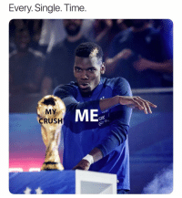 Crush, Soccer, and Sports: Every. Single. Tim  e.  MEs  CRUSH  Ora Relatable