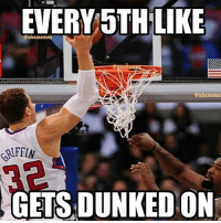 Comment what like you got! Don't get dunked on!: EVERY STH LIKE  enbamemez  @nba meme  AFFIN  GETS DUNKED ON Comment what like you got! Don't get dunked on!