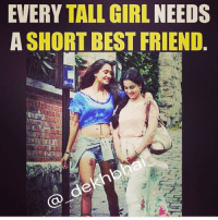 Every guy needs kameena friend 😂 TAG your bestfriends ❤️ ➡️ @ommy_007: EVERY TALL GIRL NEEDS  A SHORT BEST FRIEND  de Every guy needs kameena friend 😂 TAG your bestfriends ❤️ ➡️ @ommy_007