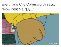 "Memes, Cris Collinsworth, and 🤖: Every time Cris Collinsworth says,  ""Now here's a guy...""  @NFL MEMES"