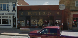 Every time I drive through Corydon, Indiana I always forget to take a picture. But here it is in all its glory. I give you, Butt Drugs!: Every time I drive through Corydon, Indiana I always forget to take a picture. But here it is in all its glory. I give you, Butt Drugs!