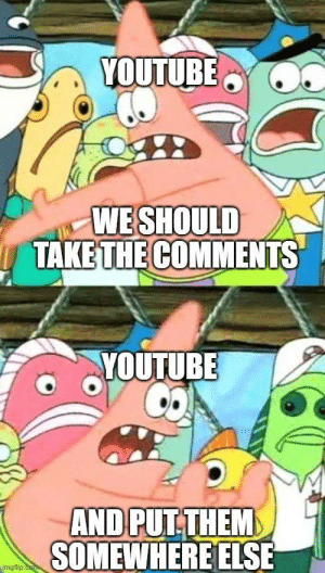 Every time I scroll down to look at the comments on YouTube, I just see YouTube saying the comments have been moved.: Every time I scroll down to look at the comments on YouTube, I just see YouTube saying the comments have been moved.