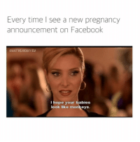 And I hope your man goes bald.: Every time I see a new pregnancy  announcement on Facebook  @MARTINSANOMAYHEM  I hope your babies  look like monkeys. And I hope your man goes bald.