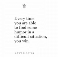 """Free, Time, and Stress: Every time  you are able  to find some  humor in a  difficult situation,  you win  @QWORLDSTAR """"Live stress free! Don't let things distract you while you're building!"""" 💯 @QWorldstar https://t.co/6S0W9s4Ddo"""