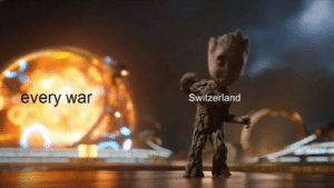 *Jamming to music*: every war  Switzerland *Jamming to music*