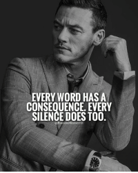Memes, 🤖, and Silencer: EVERY WORD HAS A  CONSEQUENCE. EVERY  SILENCE DOES TOO Like if you agree.🔥 businessmindset101