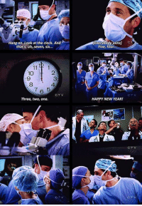 WHO REMEMBERS THIS #GreysAnatomy https://t.co/Uw7mRAHWXP: Everybody,oins]  en  Hang on..Look at the clock. And  that's, uh, seven, six...  Five, four  10  9  8  2  3  4  7 6 5  CTV  Three, two, one.  HAPPY NEW YEAR! WHO REMEMBERS THIS #GreysAnatomy https://t.co/Uw7mRAHWXP