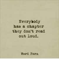 Porn, Word, and They: Everyhody  has a chapter  they don't read  out loud.  Word Porn