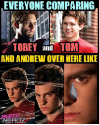 Poor AndrewGarfield ... We're seeing EVERYONE compare TobeyMaguire & TomHolland but no mention of him 😢 . . WHO WAS YOUR FAVORITE SPIDERMAN??? We give the edge to Tom, but MANY of you still are Tobey loyalists. Where do YOU stand?? . . HEAR our FULL REVIEW SpidermanHomecoming Review this TUESDAY NIGHT at 6:45ET on our PARTNERDZ PODCAST!! . . REVIEW vulture marvel tomholland spiderman avengers captainamerica thor ironman stark comiccon cosplay superheroes dbz anime batman gaming guardiansofthegalaxy blackwidow comicbooks legend beetlejuice: EVERYONE COMPARING  TOBEY and TOM  AND ANDREW OVER HERE LIKE  PARD Poor AndrewGarfield ... We're seeing EVERYONE compare TobeyMaguire & TomHolland but no mention of him 😢 . . WHO WAS YOUR FAVORITE SPIDERMAN??? We give the edge to Tom, but MANY of you still are Tobey loyalists. Where do YOU stand?? . . HEAR our FULL REVIEW SpidermanHomecoming Review this TUESDAY NIGHT at 6:45ET on our PARTNERDZ PODCAST!! . . REVIEW vulture marvel tomholland spiderman avengers captainamerica thor ironman stark comiccon cosplay superheroes dbz anime batman gaming guardiansofthegalaxy blackwidow comicbooks legend beetlejuice