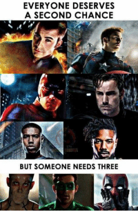 Funny, Three, and Chance: EVERYONE DESERVES  A SECOND CHANCE  BUT SOMEONE NEEDS THREE
