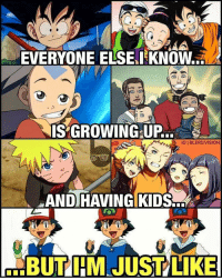 A Dream, Ash, and Growing Up: EVERYONE ELSELKNOW...  S GROWING UP..  IG I BLERDVISION  AND HAVING KIDS-  VI  ...BUT I'MIJUST LIKE poor ash..still in coma having a dream