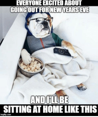 Memes, Home, and 🤖: EVERYONE EXCITED ABOUT  GOING OUT FOR NEW YEARS EVE  AND IILLBE  SITTING AT HOME LIKE THIS  imgflip.com
