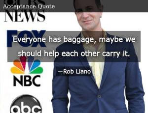 SIZZLE: Everyone has baggage, maybe we should help each other carry it.