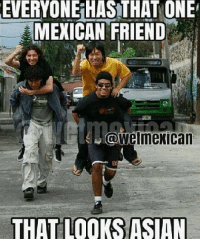 EVERYONE HAS ONE: EVERYONE HASTHAT ONE  MEXICAN FRIEND  a wetmexican  THAT LOOKS ISIN EVERYONE HAS ONE