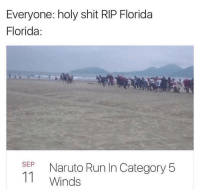 Memes, Naruto, and Run: Everyone: holy shit RIP Florida  Florida:  SEP Naruto Run In Category 5  11 Winds Y'all wild for this 😂💀 https://t.co/d6lGGvGdQr