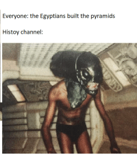 Hello, Channel, and Everyone: Everyone: the Egyptians built the pyramids  Histoy channel:  2 Hello There https://t.co/elwNpRZo9Y