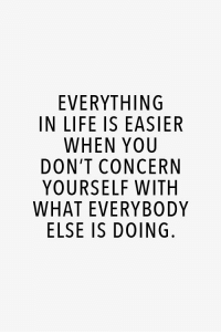 RT @AthleteSwag: Morning motivation: EVERYTHING  IN LIFE IS EASIER  WHEN YOU  DON'T CONCERN  YOURSELF WITH  WHAT EVERYBODY  ELSE IS DOING RT @AthleteSwag: Morning motivation