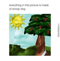 Memes, Snoop, and 🤖: everything in this picture is made  of snoop dog The longer you look...