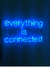 Connected, Everything, and Everything Is Connected: everything  IS  connected
