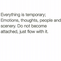 emote: Everything is temporary,  Emotions, thoughts, people and  scenery. Do not become  attached, just flow with it.