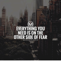 Comfortable, Disappointed, and Memes: EVERYTHING YOU  NEED IS ON THE  OTHERSIDE OF FEAR  @MILLIONAIRE MENTOR The ability to take risks by stepping outside your comfort zone is the primary way by which we grow. But we are often afraid to take that first step. Here are 5 ways to help you get started: 1. Become aware of what's outside of your comfort zone. In other words: What are the things that you believe are worth doing but are afraid of doing yourself because of the potential for disappointment or failure? Draw a circle and write those things down outside the circle. This process will not only allow you to clearly identify your discomforts, but your comforts. 2. Become clear about what you are aiming to overcome. Take the list of discomforts and go deeper. Remember, the primary emotion you are trying to overcome is fear. How does this fear apply uniquely to each situation? Be very specific. 3. Get comfortable with discomfort. One way to get outside of your comfort zone is to literally expand it. Make it a goal to avoid running away from discomfort. Let's stay with the theme of meeting people in social settings. If you start feeling a little panicked when talking to someone you've just met, try to stay with it a little longer than you normally would before retreating to comfort. 4. See failure as a teacher. Many of us are so afraid of failure, that we would rather do nothing than take a shot at our dreams. Begin to treat failure as a teacher. What did you learn from the experience? How can you take that lesson to your next adventure to increase your chance of success? 5. Take baby steps. Don't try to jump outside your comfort zone, you will likely become overwhelmed and jump right back in. Take small steps toward the fear you are trying to overcome. If you want to do public speaking, start by taking every opportunity to speak to small groups of people. You can even practice with family and friends. millionairementor *double tap* if you read EVERYTHING and appreciate the value😉✔️
