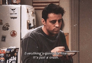 Crush, Fine, and Just: Everything's gonna fine.  It's just a crush.  be