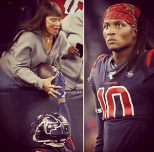 Everytime DeAndre scores he gave his mom the touchdown ball, cause his mother ist blind.: Everytime DeAndre scores he gave his mom the touchdown ball, cause his mother ist blind.