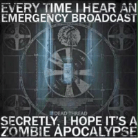 thread: EVERYTIME I HEAR AN  EMERGENCY BROADCAST  DEAD THREAD  ZOMBIE APOCALYPSE