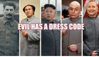 LIKE our page: fb.com/stophillaryin2016: EVIL HAS A DRESS CODE LIKE our page: fb.com/stophillaryin2016