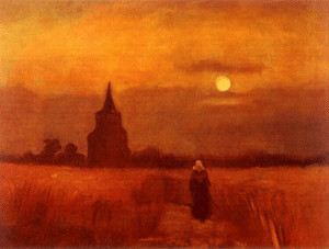 evokesart:Vincent Van Gogh -  The Old Tower In The Fields, 1884: evokesart:Vincent Van Gogh -  The Old Tower In The Fields, 1884