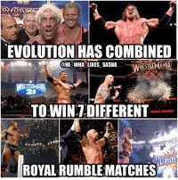 Pretty impressive evolution is definitely one of the GOAT factions. Also 3 out of the last 4 years an evolution member has won the rumble. wwe wwememe wwememes ricflair tripleh thegame royalrumble batista theanimal wrestlemania randyorton rko theviper apexpredator wrestler wrestling wrestlemania33 wrasslin prowrestling professionalwrestling ruthlessaggression worldwrestlingentertainment wweuniverse wwesuperstars raw wwehof evolution smackdown wwelegends wwelegend: EVOLUTION HAS COMBINED  @HE WHO LIKES SASHA  RESTLEMANIA  STEM  YAL  TO WIN DIFFERENT  ROVAL RUMBLE  TE  ROYAL RUMBLEMATCHES Pretty impressive evolution is definitely one of the GOAT factions. Also 3 out of the last 4 years an evolution member has won the rumble. wwe wwememe wwememes ricflair tripleh thegame royalrumble batista theanimal wrestlemania randyorton rko theviper apexpredator wrestler wrestling wrestlemania33 wrasslin prowrestling professionalwrestling ruthlessaggression worldwrestlingentertainment wweuniverse wwesuperstars raw wwehof evolution smackdown wwelegends wwelegend