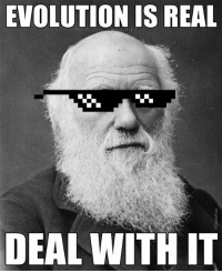 Happy Darwin Day!: EVOLUTION IS REAL  DEAL WITH IT Happy Darwin Day!