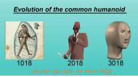 Common, Evolution, and You: Evolution of the common humanoid  co  3018  2018  see, no more legg  1018  as you ca https://t.co/tItZZnsnFN