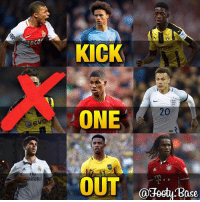 """Memes, 🤖, and One: Evon  irat  KICK  20  ONE  OUT  @Footy ase Kick One Out """"Youngsters"""" (2) Mor is out! Comment the youngster you think has the LEAST potential, the biggest talent will remain 🔥 Follow me @footy.base for more! ❤️"""
