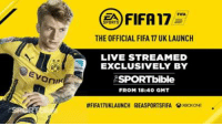 Lethal Bizzle & Kez vs Olly Murs & Sean  SECOND HALF!: Evonik  FIFA  FIFA17  SPORTS  THE OFFICIAL FIFA 17 UK LAUNCH  LIVE STREAMED  EXCLUSIVELY BY  ASPORTbible  FROM 18:40 GMT  #FIFA17UKLAUNCH taEASPORTSFIFA GXeoxONNEE Lethal Bizzle & Kez vs Olly Murs & Sean  SECOND HALF!